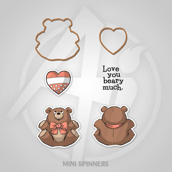ART IMPRESSION STAMP MINI BEAR SPINNER SET