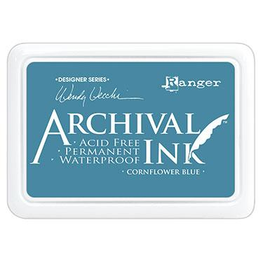 RANGER ARCHIVAL INK PAD  CORNFLOWER BLUE