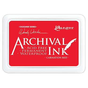 ARCHIVAL INK STAMP PAD CARNATION RED