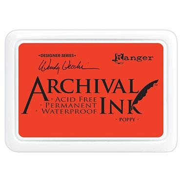 RANGER ARCHIVAL INK PAD  POPPY