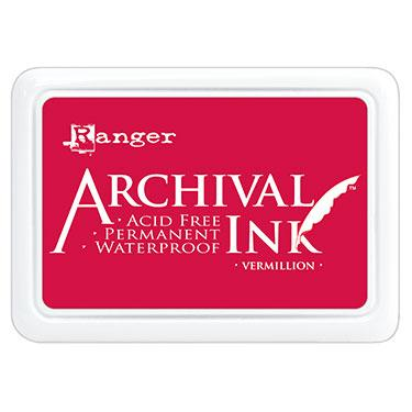 ARCHIVAL INK STAMP PAD VERMILLION