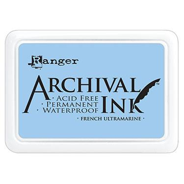 ARCHIVAL INK STAMP PAD FRENCH ULTRAMARINE