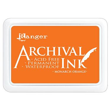 ARCHIVAL INK STAMP PAD MONARCH ORANGE