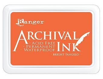 RANGER ARCHIVAL INK PAD BRIGHT TANGELO