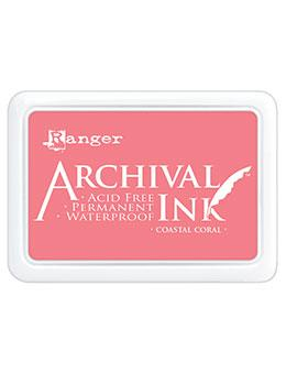 ARCHIVAL INK STAMP PAD COASTAL CORAL