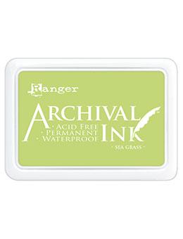 ARCHIVAL INK STAMP PAD SEA GRASS