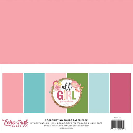 ECHO PARK  ALL GIRL 12 X 12 SOLID PAPER PACK