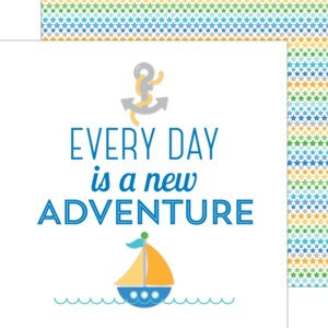 DOODLEBUG 12X12 PAPER ANCHORS AWEIGH NEW ADVENTURE