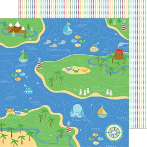 DOODLEBUG 12X12 PAPER ANCHORS AWEIGH FISHERMANS CO