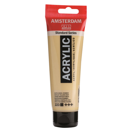 AMSTERDAM  ACRYLICS  PAINT 120ML NAPLES YELLOW DEEP