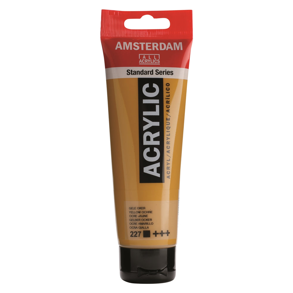 AMSTERDAM  ACRYLICS  PAINT 120ML YELLOW OCHRE