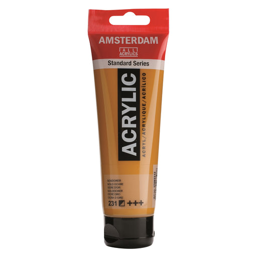 AMSTERDAM  ACRYLICS  PAINT 120ML GOLD OCHRE