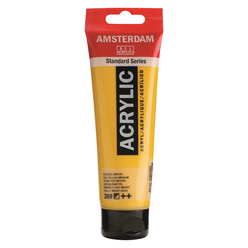 AMSTERDAM  ACRYLICS  PAINT 120ML AZO YELLOW MEDIUM