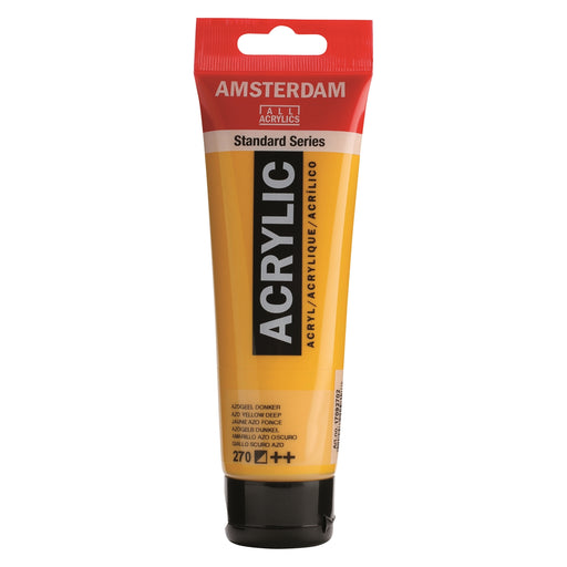 AMSTERDAM  ACRYLICS  PAINT 120ML AZO YELLOW DEEP