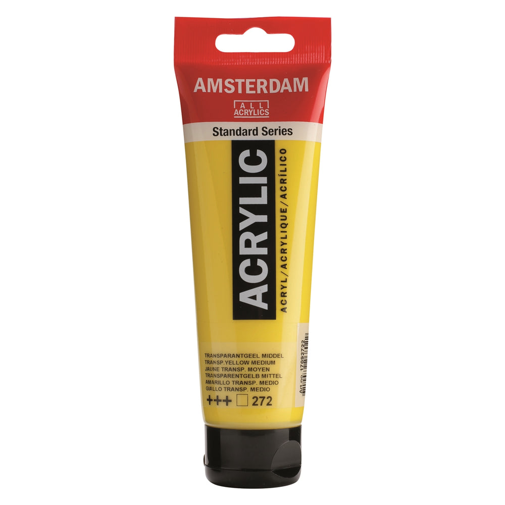 AMSTERDAM  ACRYLICS  PAINT 120ML TRANSP. YELLOW MEDIUM