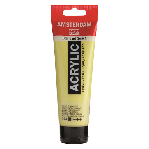 AMSTERDAM  ACRYLICS  PAINT 120ML NICKEL TITAN YELLOW