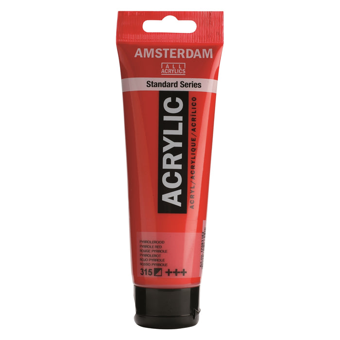 AMSTERDAM  ACRYLICS  PAINT 120ML PYRROLE RED