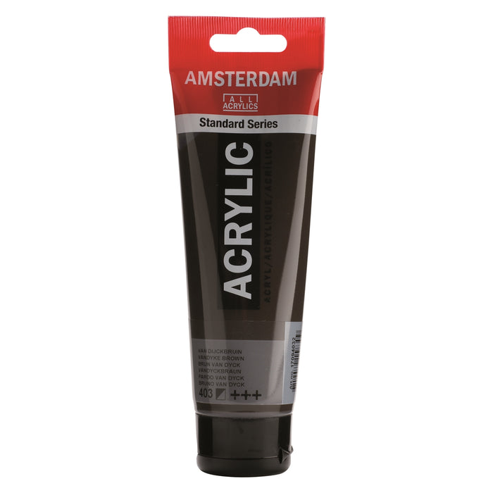 AMSTERDAM  ACRYLICS  PAINT 120ML VANDYKE BROWN