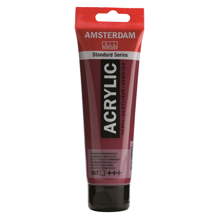 AMSTERDAM  ACRYLICS  PAINT 120ML PERMANENT RED VIOLET