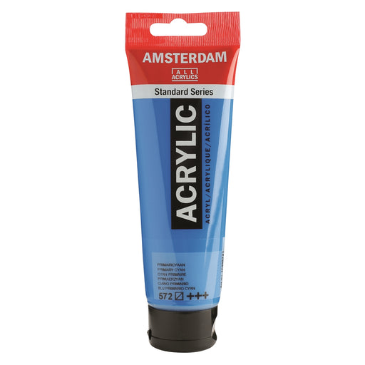 AMSTERDAM  ACRYLICS  PAINT 120ML PRIMARY CYAN