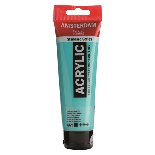 AMSTERDAM  ACRYLICS  PAINT 120ML TURQUOISE GREEN