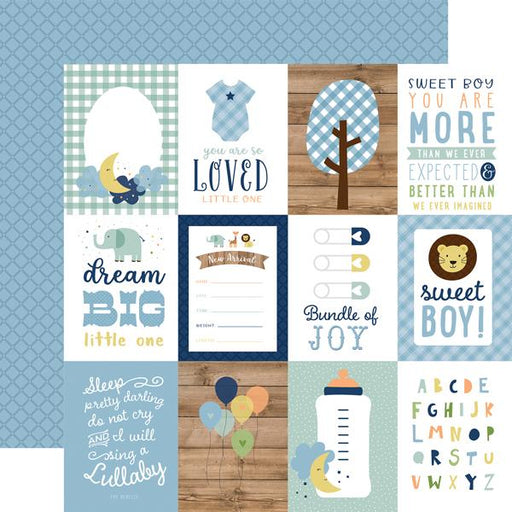 ECHO PARK 12X12  PAPER BABY BOY  JOURNALING CARDS 3 X 4