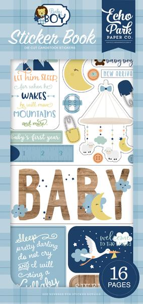 ECHO PARK  BABY BOY  ADHESIVE STICKER BOOK