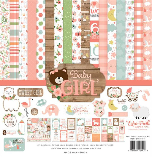 ECHO PARK 12X12  PAPER PACK  BABY GIRL