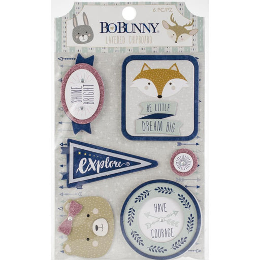 BOBUNNY LAYERED CHIPBOARD LITTLE WONDERS