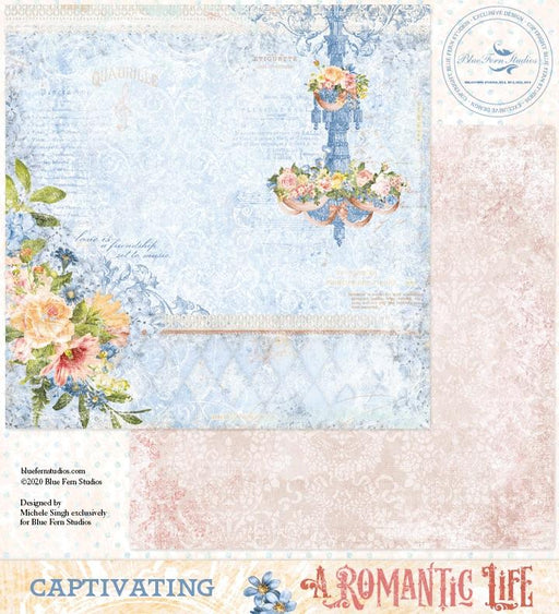 BLUEFERN STUDIO 12 X 12 PAPER  ROMANTIC LIFE  CAPTIVATING