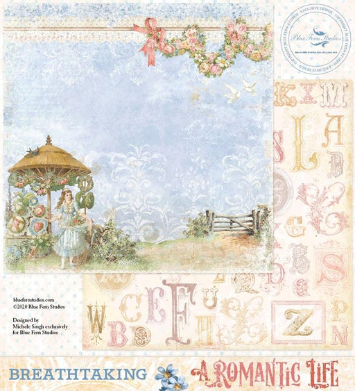 BLUEFERN STUDIO 12 X 12 PAPER  ROMANTIC LIFE  BREATHTAKING
