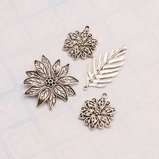 BLUEFERN STUDIO CHARMS  RADIANT FLOWERS