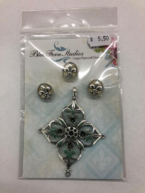 BLUEFERN STUDIO CHARMS  FILIGREE MEDAL