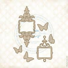 BLUEFERN STUDIO  RADIANCE CHIPBOARD PETITE FRAME BUTTERFLIES