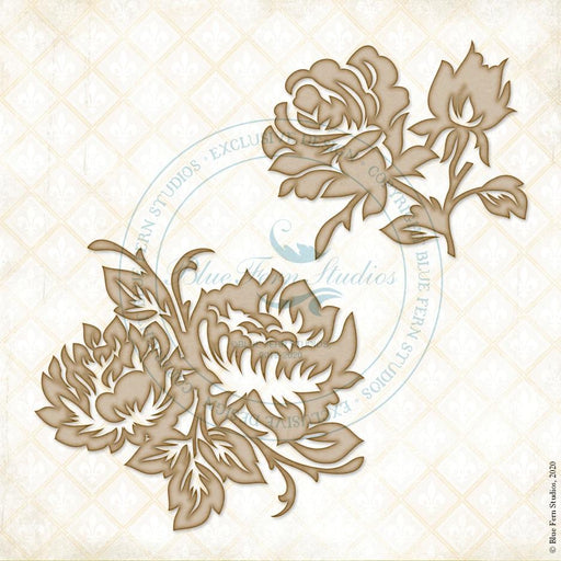 BLUEFERN STUDIO ROMANTIC LIFE  CHIPBOARD   BOUQUET FLORETS