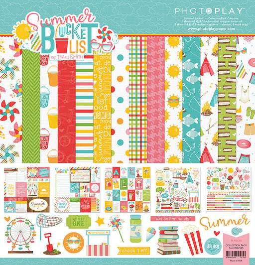 PHOTOPLAY  12 X12 PAPER PACK  SUMMER BUCKET LIST