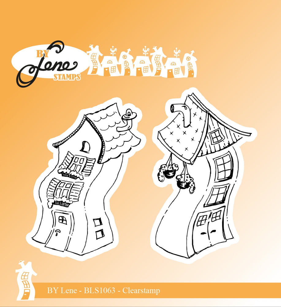 DIXICRAFT LENE  STAMP CROOKED HOUSE