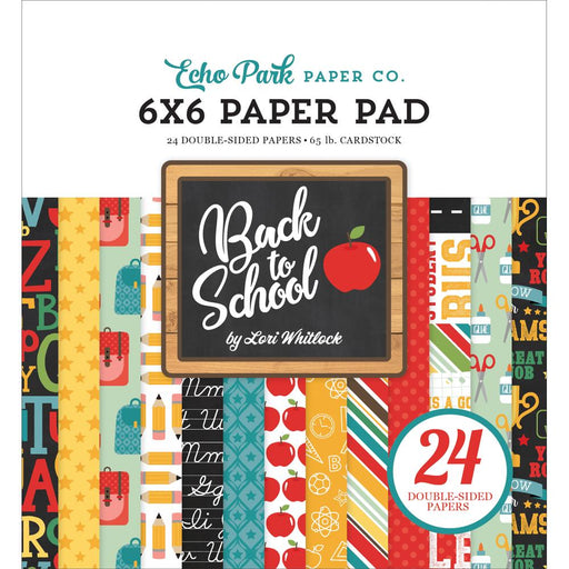 ECHO PARK 6 X 6  PAPER PAD  BACK TO SCHOOL