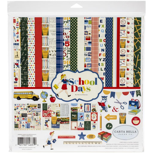 CARTA BELLA 12 X 12 PAPER PACK SCHOOL DAYS