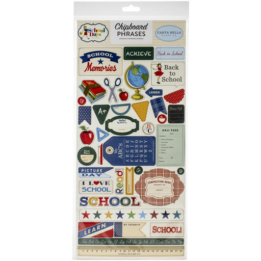 CARTA BELLA  SCHOOL DAYS CHIPBOARD PHRASES