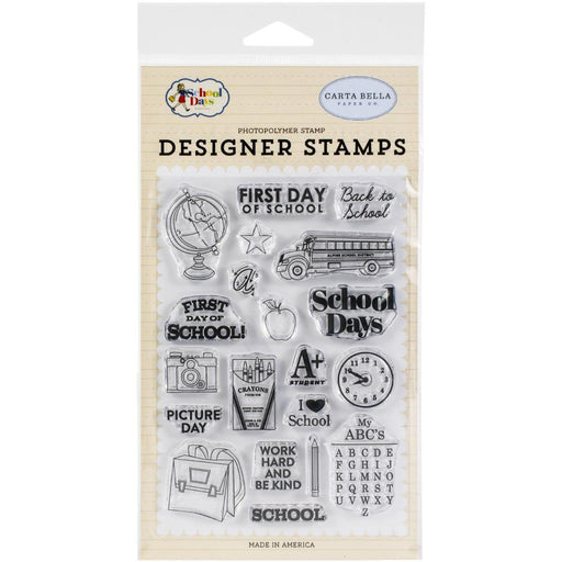 CARTA BELLA CLEAR STAMP SCHOOL DAYS