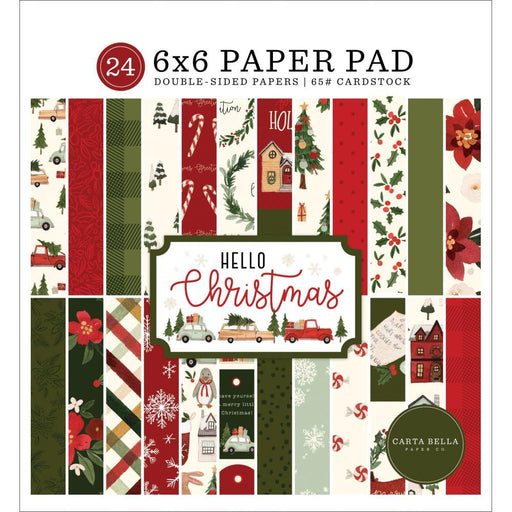 CARTA BELLA  6 X 6  PAPER PACK HELLO CHRISTMAS