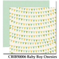 CARTA BELLA  12X12 PAPER ITS A BOY BABY BOY ONESIES