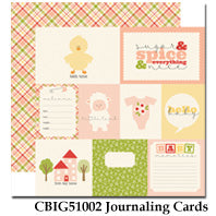 CARTA BELLA  12X12 PAPER ITS A GIRL JOURNALING CARDS