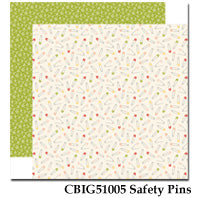CARTA BELLA  12X12 PAPER ITS A GIRL SAFETY PINS
