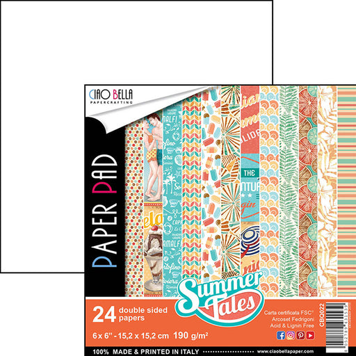 CIAO BELLA 6 X 6  PAPER PAD SUMMER TALES COLLECTION