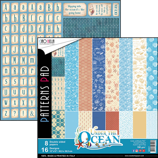 CIAO BELLA 12 X 12  PAPER PAD UNDER THE OCEAN COLLECTION
