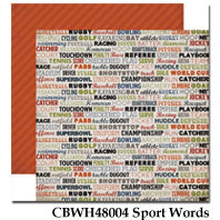 CARTA BELLA  12X12 PAPER WORK PLAY HARD  SPORT WORDS