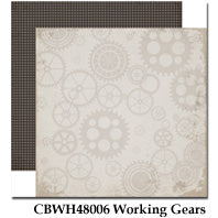 CARTA BELLA  12X12 PAPER WORK PLAY HARD WORKING GEARS