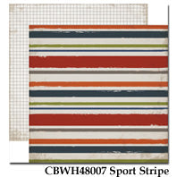 CARTA BELLA  12X12 PAPER WORK PLAY HARD SPORT STRIPE